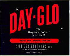 1951 DayGloNeonRed #day #glo