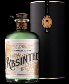 Absinthe packaging by Stranger and Stranger.