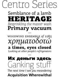 Centro Series by Panos Vassiliou #font #serif #sans #type #parachute #typography