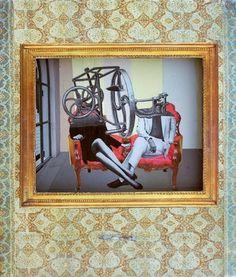 Dan Bina, Negotiations #relief #sculpture #bina #dan #wood #vintage #art #collage #paper