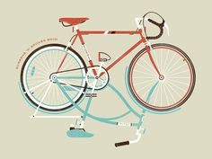 grain edit · DKNG Studios #print #design #screen #bike #poster