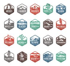 National Parks Stamps #logo #stamp