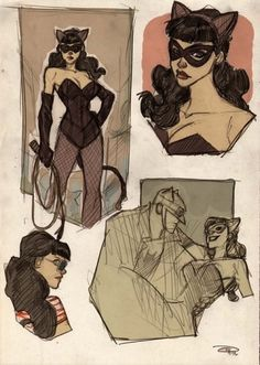 Artist Reimagines Batman in the '50s - DesignTAXI.com #catwoman #batman #illustration #vintage #comics