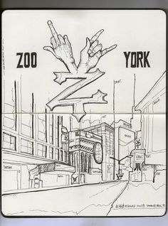 Moleskine/ZooYork® #white #fuck #you #rock #city #zoo #moleskine #york #hand #new