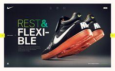 Nike #shoes #site #design #direction #nike #colour #art #web