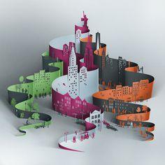 City #cut paper #eiko ojala