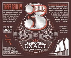 Schooner Exact Brewing Company The Dieline #alcohol #label