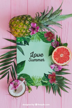 Tropical summer composition with leaves and fruits Free Psd. See more inspiration related to Flower, Mockup, Floral, Party, Summer, Paper, Beach, Sun, Leaves, Fruits, Tropical, Holiday, Mock up, Coconut, Pineapple, Palm, Decorative, Vacation, Wooden, Summer beach, Summer party, Aloha, Up, Beach party, Tropical flowers, Season, Hawaiian, Palm leaves, Grapefruit, Painted, Composition, Mock, Exotic, Summertime and Seasonal on Freepik.