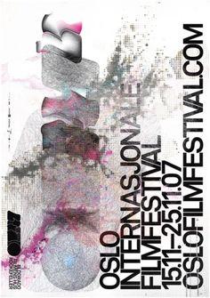 Flyer Design Goodness - A flyer and poster design blog: Super Detailed Film Festival Posters by Halvor Bodin