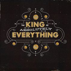 King Type #radio #typography #custom