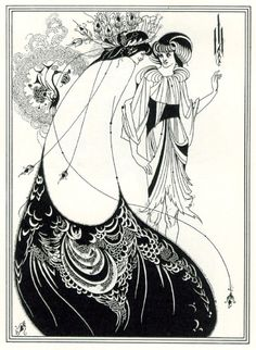 #AUBREY #BEARDSLEY The Peacock Skirt #art #nouveau