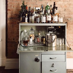 One man's desk is another man's bar cart. (📷 by @the_girl_jessie)