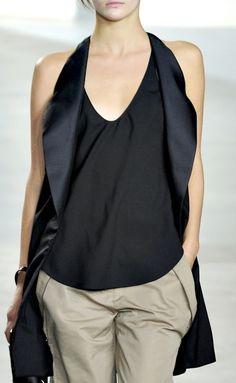 Inspiration Style / Phillip Lim, Spring 2012, beautiful #fashion #minimal #black