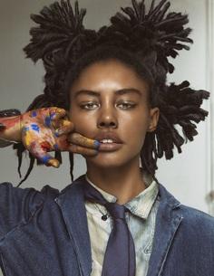 Paint model woman