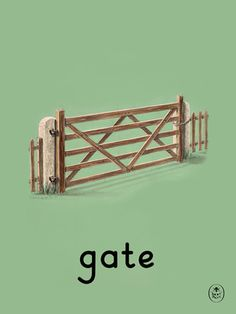 gate Art Print by Ladybird Books Easyart.com #vintage #artprints #print #design #retro #art #bookcover