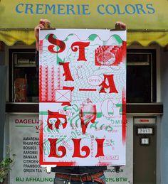Studio Fluit: Vincent Metamorphosis Exhibition #color #storefront #poster #typography