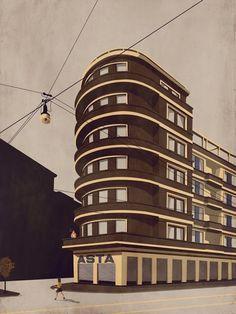 4 Conestoga Building in Pittsburg #illustration #architecture