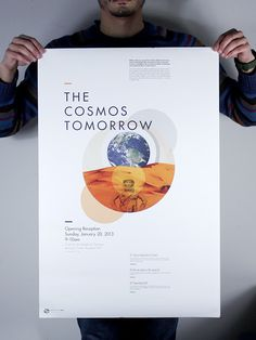 Space 101 Conference on Behance #print #cosmos #poster #tomorrow #typography