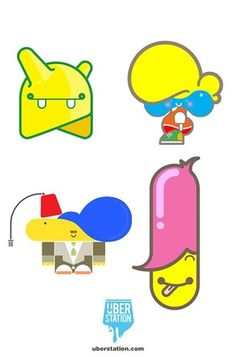 Überstation Vinyl Characters Set I | Flickr - Photo Sharing! #heros #vector #turkish #design #illustration #cartoon #characters