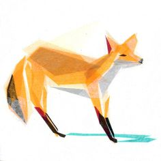 felix fox print #geometric #overlay #low poly