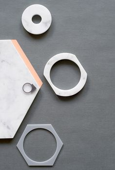 Varia — Design & photography related inspiration #modern #geometric #jewel #simple #jewelry #marble #minimal