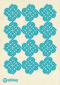 Stinky socks Identity on Behance #pattern #logo #identity #tile #blue