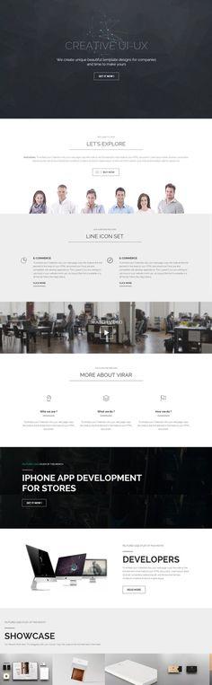 unique header, idea, website, concept