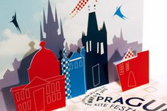 2015 Prague Kite Festival Promotional Mailer #pop #up #poster #popup #3d