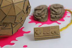 Brain over brawn by Munye&Co Studio #blood #font #nintendo #mario #cardboard #brain #geometric #pixel #tipography #illustration #hat #kill #bross #papercraft #type #face