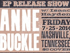 Anne Buckle Ep Release promo