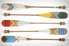 Norquay Canoe Paddles #pattern #wooden #color #paint #paddles