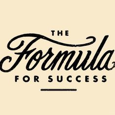 The formula for success by Steve Wolf