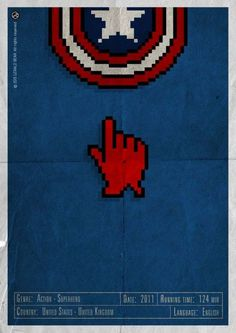 H-and Movie #movie #superhero #and #steven #design #rogers #gerald #vintage #poster #web #bear #hand #action