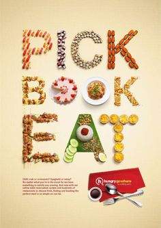 Hungry Go Where: Food Typography by Andrea Limjoco