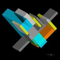 Interlock 5 #isometric #design #graphic #shapes #geometric #keaton #poster #art