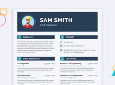 Engineer Resume - Free Engineer Resume Template with Clean Layout