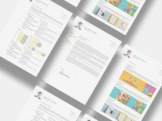 Free CV Resume Set Template for Any Job Opportunity