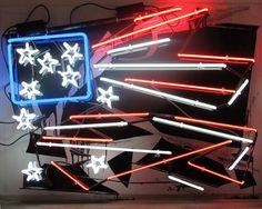 """The 1992 Los Angeles Riots"" PATRICK MARTINEZ #acrylic #sculpture #art #neon"