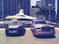 Tittysandpancakes #royce #phantom #yacht #roll