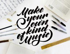 From my desk on Behance #lettering #handmade #black