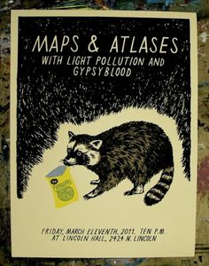GigPosters.com - Maps & Atlases - Light Pollution - Gypsyblood #design #illustration #poster #screenprint #badass