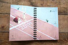 Prinz Apfel 2014 #agenda #prinzapfel #planner #illustration #diary #taschenkalender