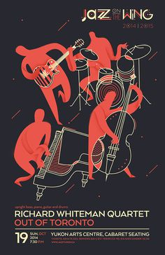 Jazz on the Wing 2014/2015 on Behance #illustration #poster #jazz #music