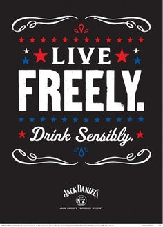 Ad of the Day: Jack Daniel's | Adweek #whiskey #white #red #letterpress #daniels #jack #blue