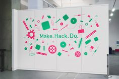 *NEW* Science Museum - Make. Hack. Do - Alex Hunting #sign #exhibition #vinyl #wall #signage