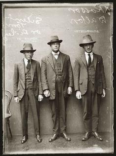 Portraits de criminels australiens dans les années 1920 | La boite verte #old #white #black #and #criminals