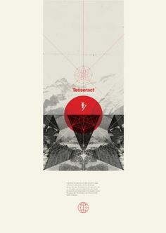 tumblr_m08c60LaVd1qexageo1_500.jpg (450634) #poster #mountain #red #black and white #geometry #beige