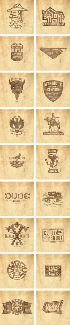 THINKMULE™ MTN MULE™ TRADING COMPANY logos set. #logos #thinkmule #collection #colorado #pruitt #vintage #logo #jeremy