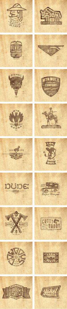 Thinkmule_AIGA_Deck_02 #logos #thinkmule #collection #colorado #pruitt #vintage #logo #jeremy