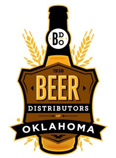 The Beer Distributors of Oklahoma #packaging #logo #oklahoma #beer